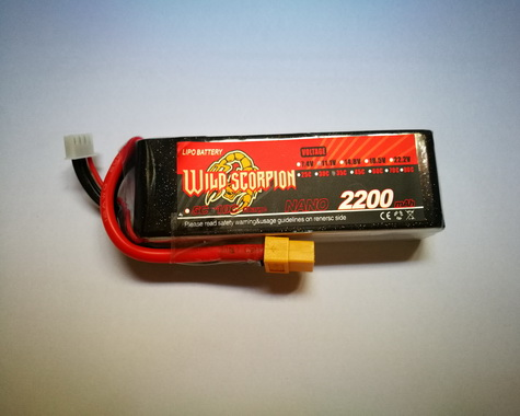 Wild Scorpion Nano tech2200mah 11.1v 35C