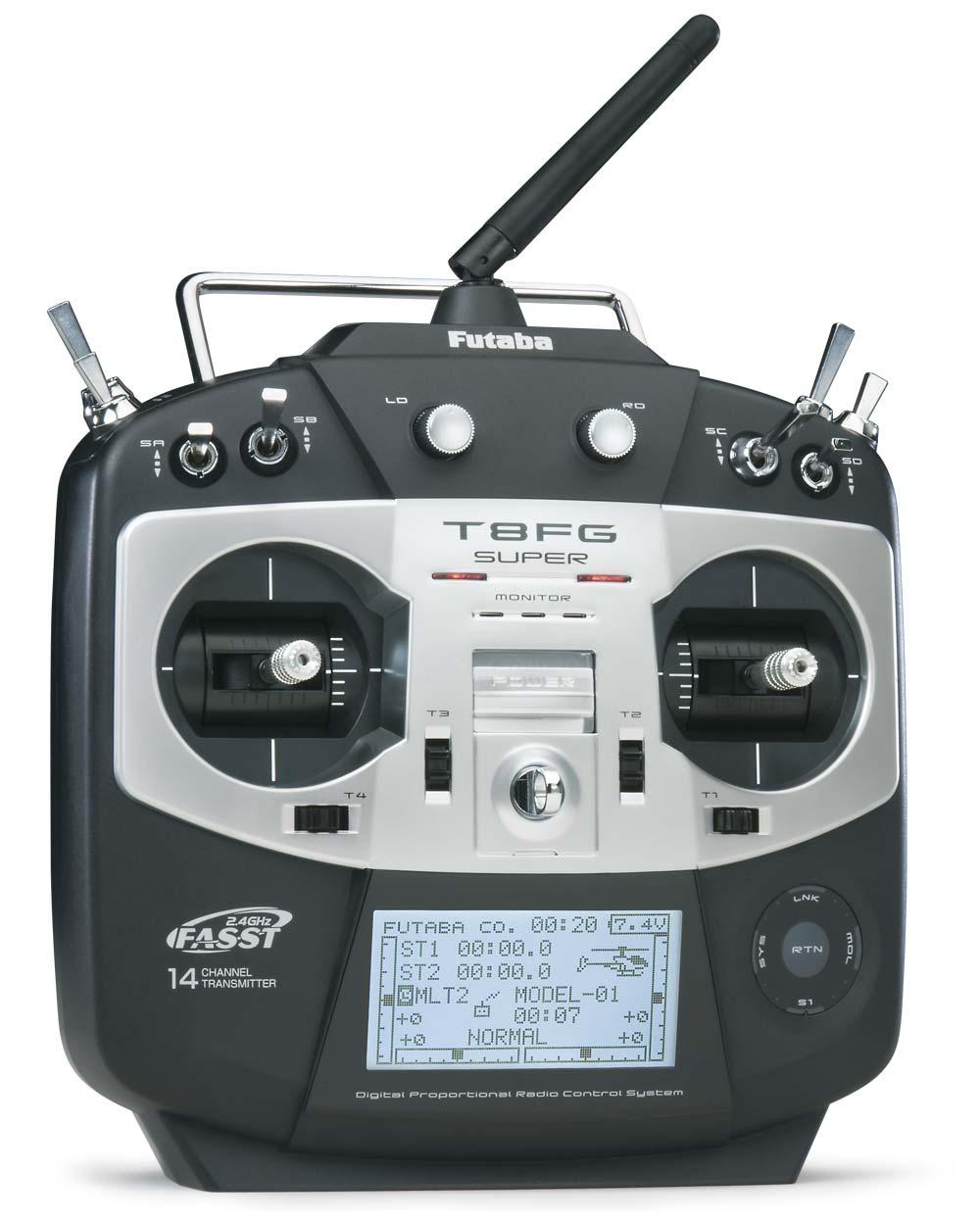 Futaba 8FG Super + R6208SB HV Receiver FASST Radio System
