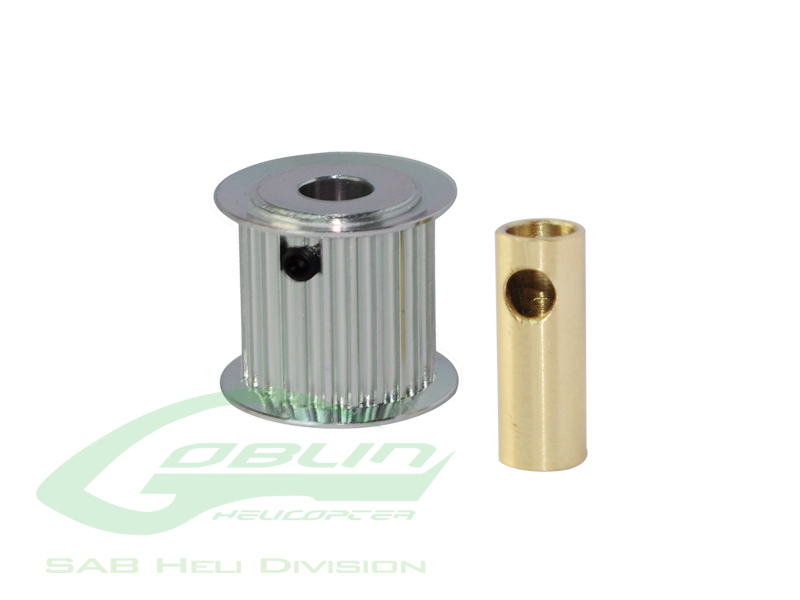 H0175-23-S – Aluminum Motor Pulley 23T (for 6/8mm motor shaft) – Goblin 770/Goblin 700 Competition