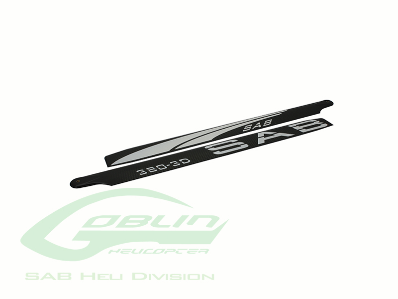 BL380-3DW – Black Line Carbon Fiber Main Blades 380mm