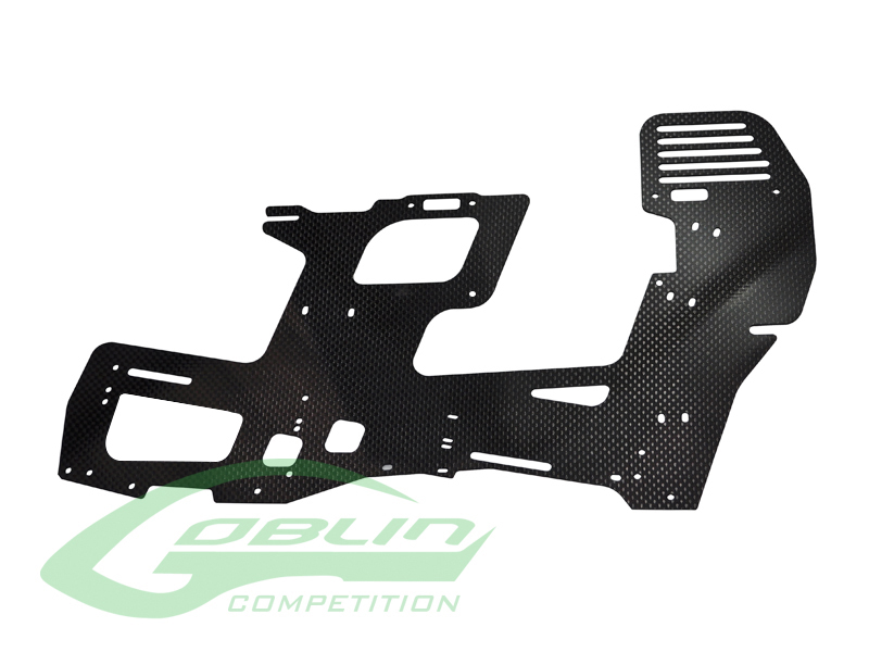 H0354-S – Carbon Fiber 2mm Main Frame (1pc) – Goblin 700 Competition