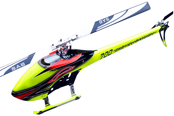SG704 – SAB GOBLIN 700 COMPETITION YELLOW/ORANGE (With main and tail blades)