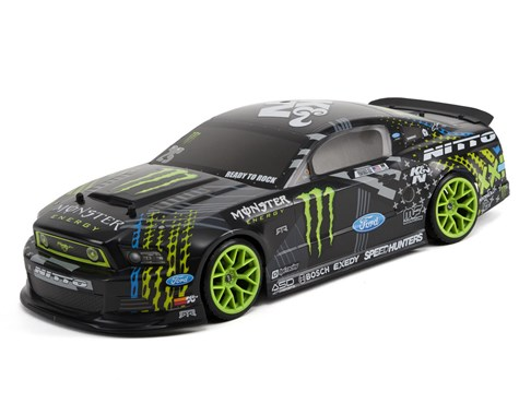 HPI Racing E10 Drift Gittin Jr '13 Monster Energy Mustang Body