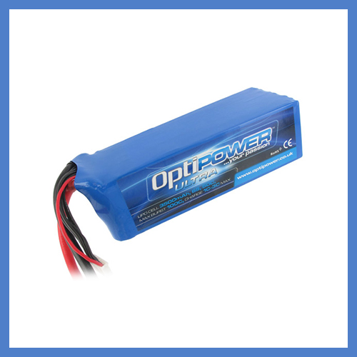 OptiPower Ultra 50C Lipo Cell Battery 3500mAh 6S 50C