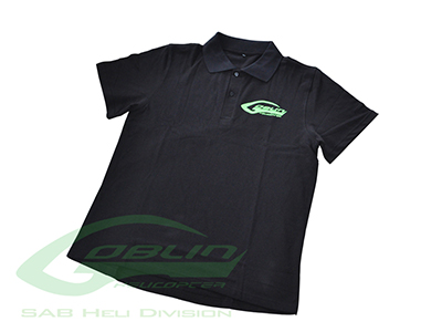 HM027-XL – SAB HELI DIVISION Black Polo Shirt – Size XL