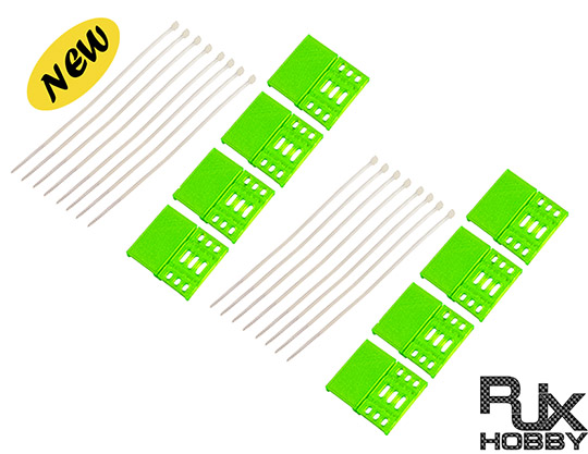 RJX Soft Nylon safe cover for FPV ESC (30A or other size) green X2 Sets