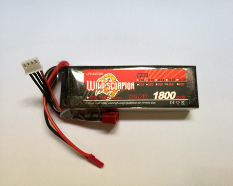 Wild Scorpion Nano tech1800mah 11.1v 45C