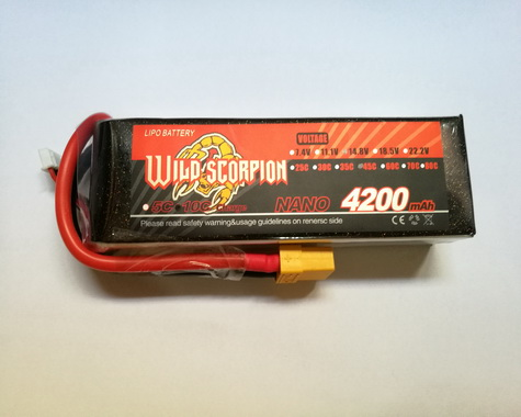 Wild Scorpion Nano tech4200mah 14.8v 45C