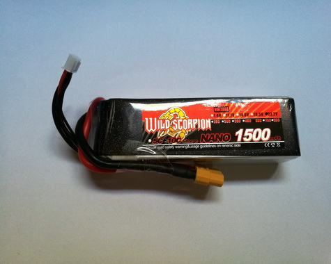 Wild Scorpion Nano tech1500mah 22.2v 60C