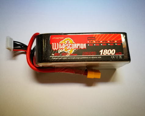 Wild Scorpion Nano tech1800mah 22.2v 60C