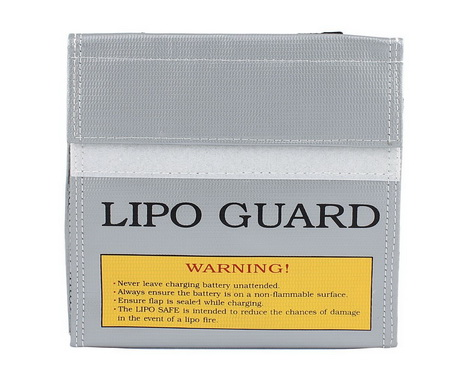 Silver small Size Lipo Battery Guard Sleeve/Bag for Charge & Storage