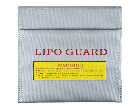 Silver Large Size Lipo Battery Guard Sleeve/Bag for Charge & Storage