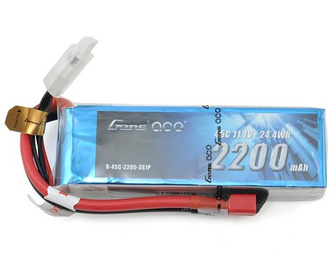 Gens Ace 3s LiPo Battery Pack 45C w/Deans (11.1V/2200mAh)