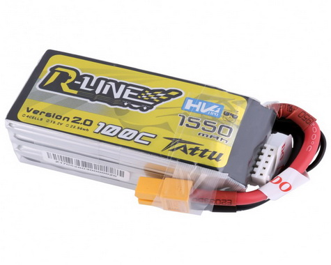 Tattu R-Line Version 2.0 1550mAh 100C 4S1P HV w/XT60