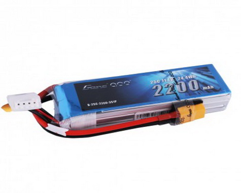 Gens ace 2200mAh 3S 11.1V 25C Lipo Battery Pack with XT60 plug