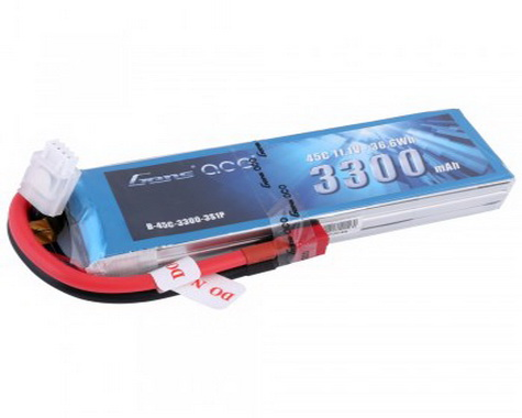 Gens ace 3300mAh 11.1V 45C 3S1P Lipo Battery Pack XT60 plug
