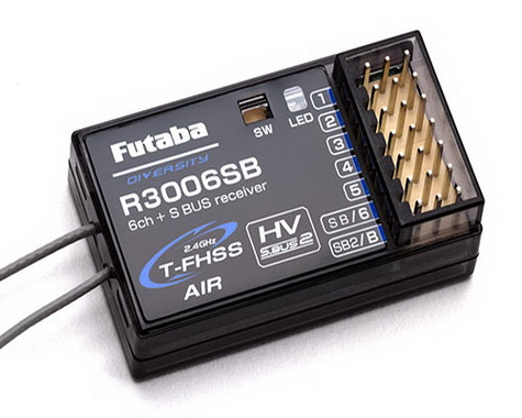 Futaba R3006SB S.Bus2 6-Channel T-FHSS Telemetry Rx