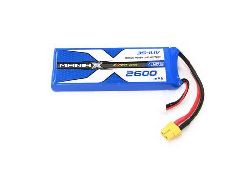 ManiaX Power LiPo 3S 2600mAh 11.1V eXpert Series 45C
