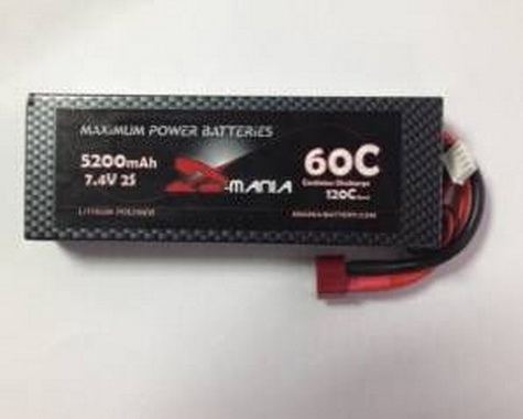 ManiaX hard case 7.4V 5200mAh 60C car Lipo battery