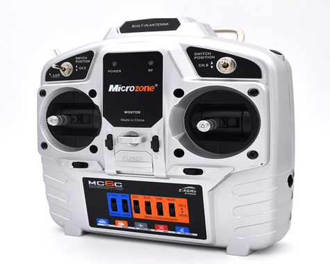 Microzone MC6C-S 6 Channel Radio Transmitter with Built in Antenna Receiver