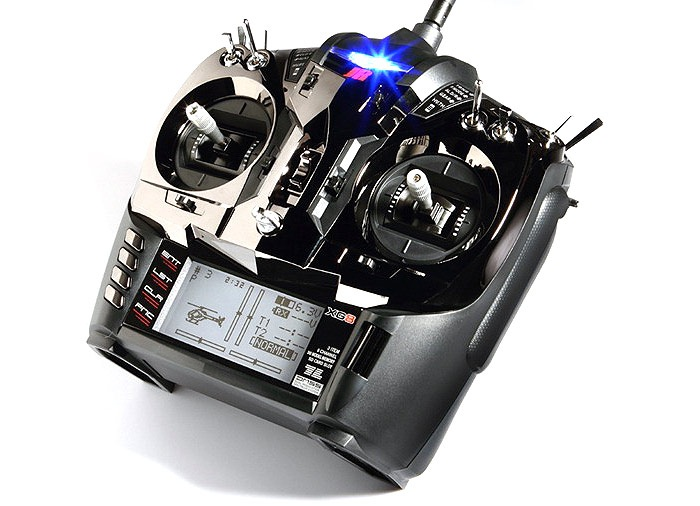 JR XG8 8-channel DMSS Transmitter w/RG831B Rx, Black