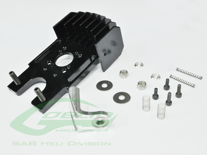 H0316-S – Aluminum Cooling Motor Mount With Third Bearing – Goblin 630/700/770