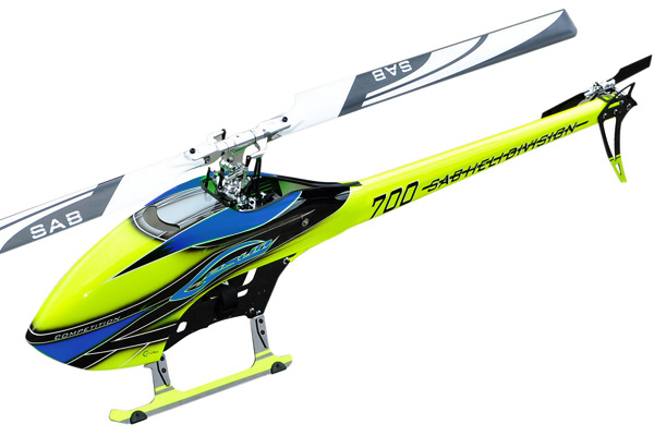 SG705 – SAB GOBLIN 700 COMPETITION YELLOW/BLUE (With main and tail blades)