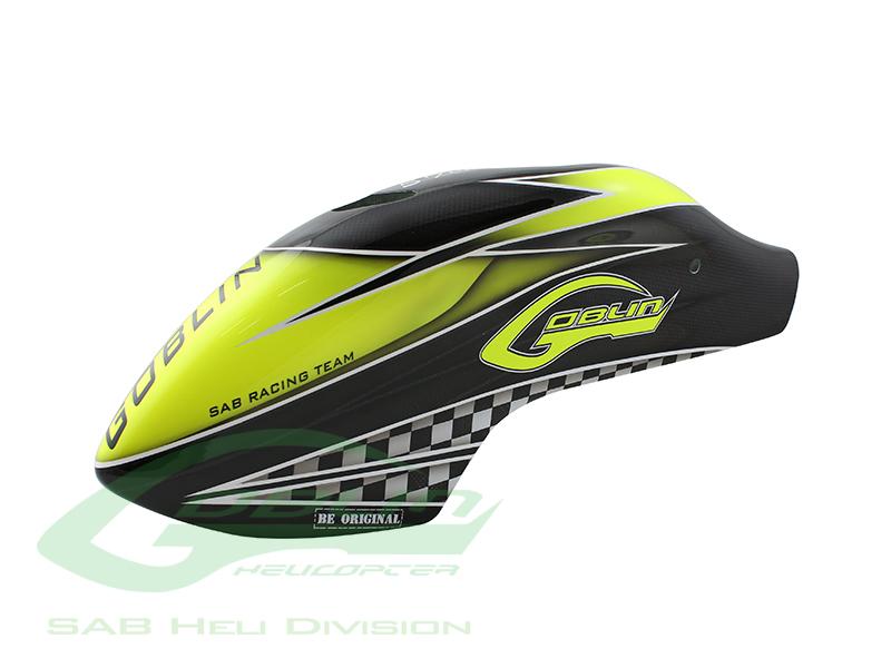 H9038-S – Canomod Airbrush Canopy SAB Yellow/Carbon – Goblin 570