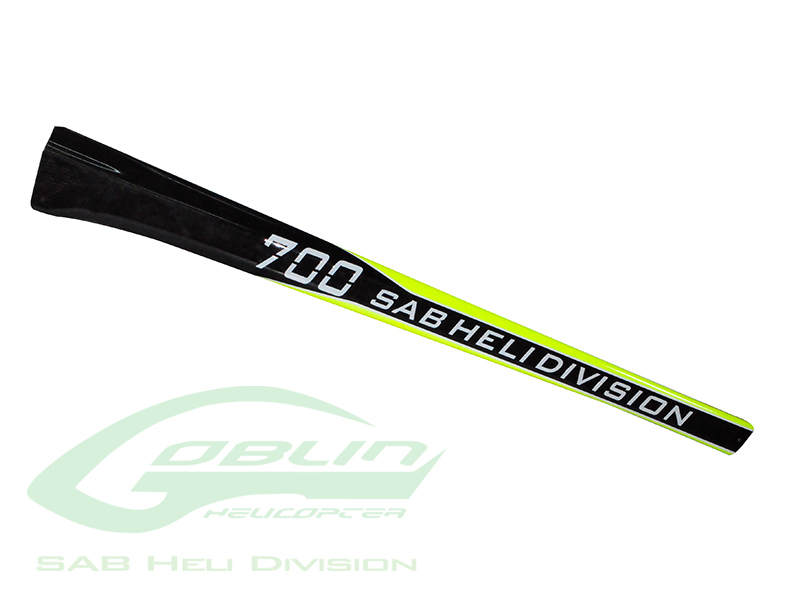 H9045-S – Carbon Fiber Tail Boom SAB Yellow/Carbon – Goblin 700 Competition/Speed