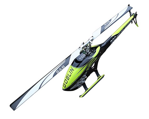 SG707 – SAB GOBLIN 700 COMPETITION YELLOW/CARBON (With main and tail blades)