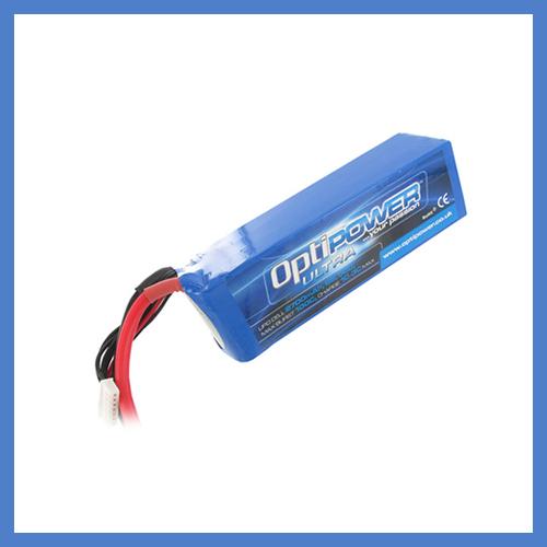 OptiPower Ultra 50C Lipo Cell Battery 2700mAh 6S 50C