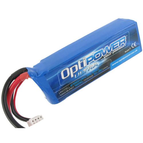 Optipower Ultra 50C Lipo Cell Battery 1800mAh 6S 50C Goblin 380 Battery