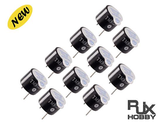 RJX 10 PCS 5V Active Alarm Buzzer Beeper Tracker 12X9.5mm