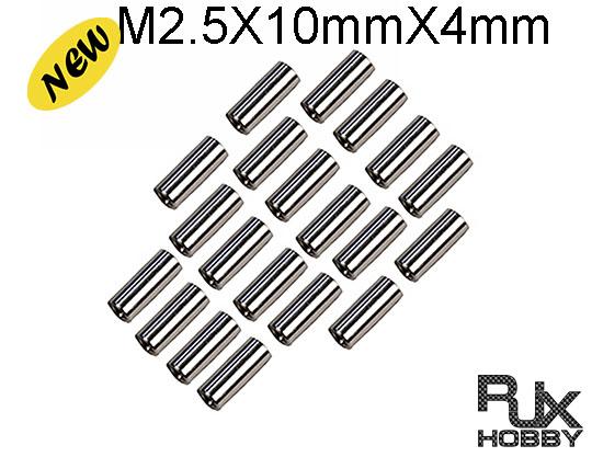 RJX M2.5X10X4mm X 20PCS Alum cossmember