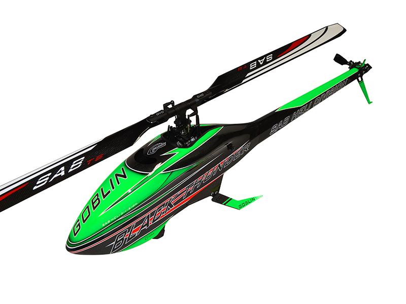 SG712 – GOBLIN BLACK THUNDER 700 GREEN/CARBON (With ThunderBolt Main And Tail Blades)
