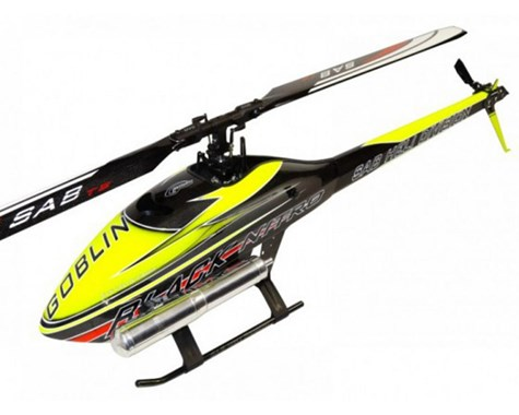 SG651 – GOBLIN BLACK NITRO 650 YELLOW/CARBON (With ThunderBolt Main And Tail Blades)