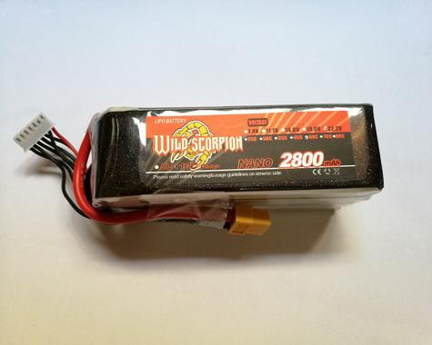 Wild Scorpion Nano tech2800mah 22.2v 60C