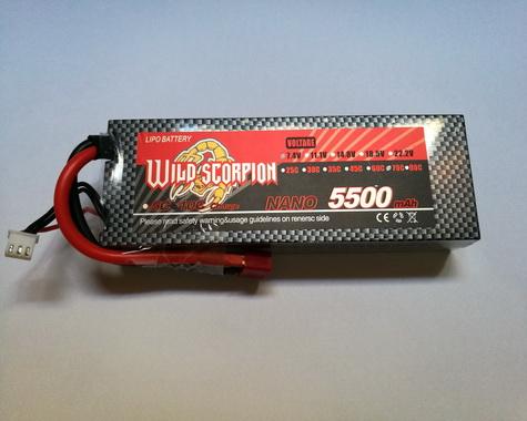 Wild Scorpion Nano tech5500mah 7.4v 70C-Car