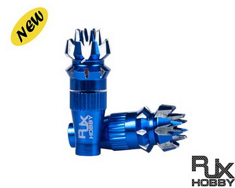 RJX M4 4mm Metal Transmitter Stick Anti-slipping Cap for JR XG8,11,14 Blue (1 set)