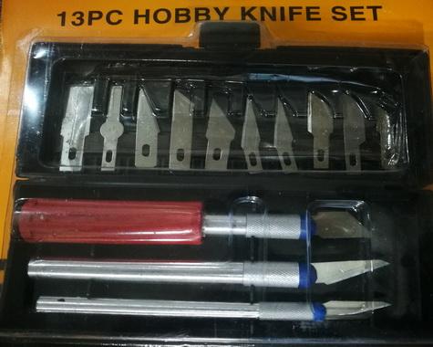 13 PC HOBBY KNIF SET
