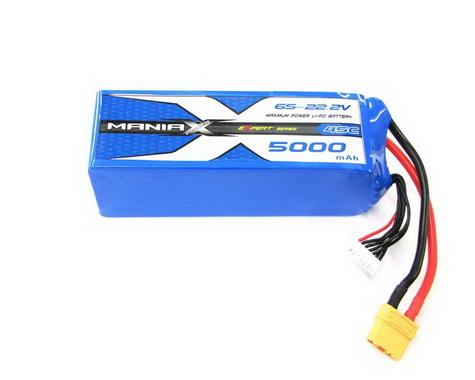 ManiaX LiPo 6S 5000mAh 22.2V 45C