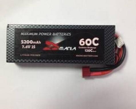 ManiaX hard case 7.4V 5200mAh 60C car Lipo battery
