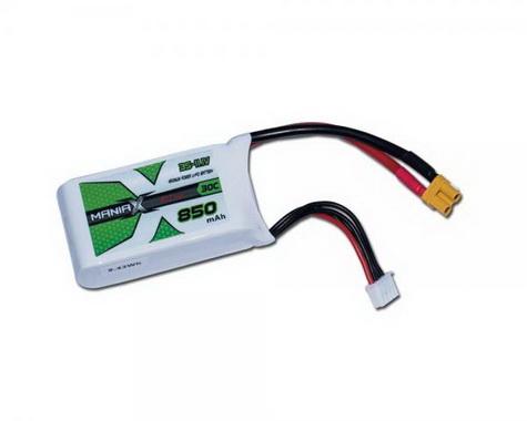 ManiaX Power LiPo 3S 11.1V 850mAh 30C