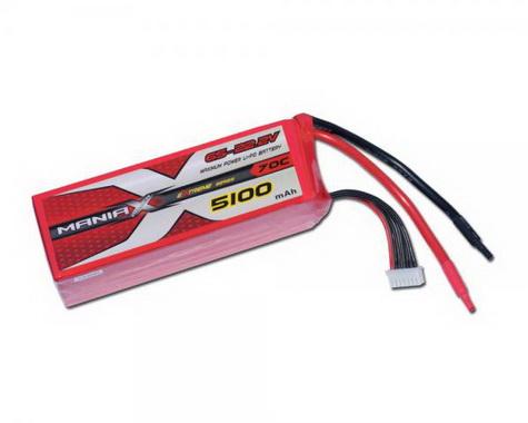 ManiaX Power LiPo 6S 5100mAh 22.2V eXtreme Series 70C